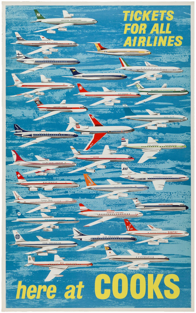 Thomas Cook original advertising poster, 1960s