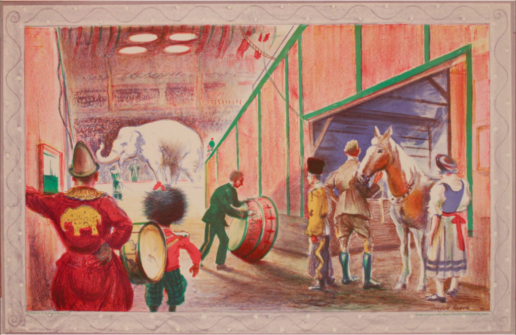School Print - Russell Reeve - The Elephant Act 1947