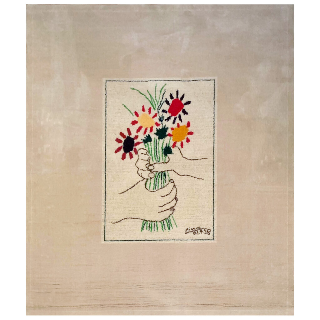 Pablo Picasso Rug Le Bouquet limited edition by Desso, 1997